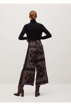 Mango Kadın Siyah Salaş Pantolon 1