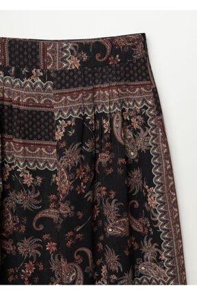 Mango Kadın Siyah Salaş Pantolon 3