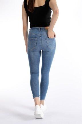 Oblavion Kadın Mavi Dar Paça Pantolon 1
