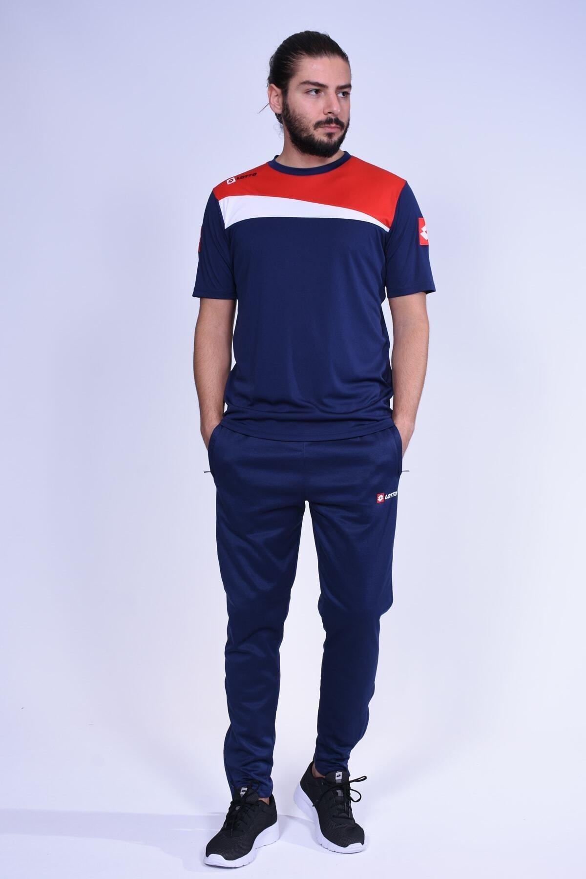 Erkek- T-shirt - Truro Tee Antr Pl - R7117 - Lacivert-kırmızı