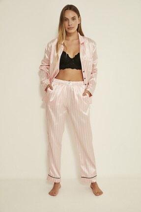 C&City Ruby Bristol Kadın Saten Pijama Alt Pembe/ekru 0
