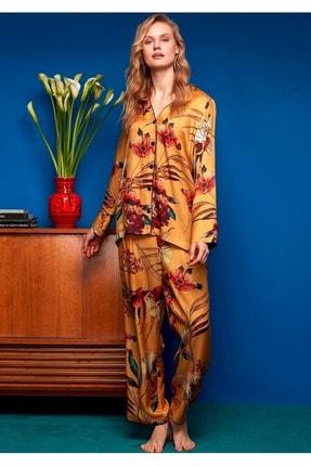 Penye Mood Kadın Sarı Pijama Takımı 8608 0