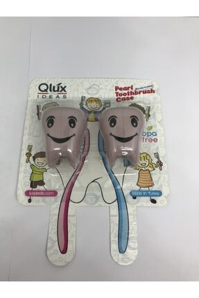 Qlüx 2'li Bas Çek İnci Diş Fırçalık 1