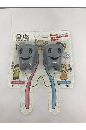 Qlüx 2'li Bas Çek İnci Diş Fırçalık 2