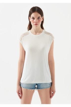 Mavi Kadın Dantel Detayli Beyaz T-Shirt 2