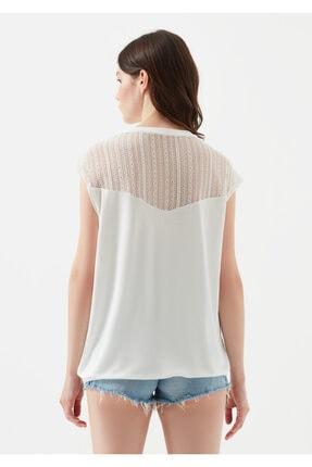 Mavi Kadın Dantel Detayli Beyaz T-Shirt 3