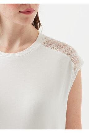Mavi Kadın Dantel Detayli Beyaz T-Shirt 4