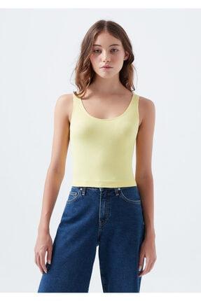 Mavi Kadın Dikişsiz  Seamless Sarı Atlet 1600208-32496 4