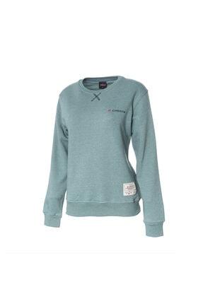 Cresta Kadın Yeşil Basic Outdoor Sweatshirt 0
