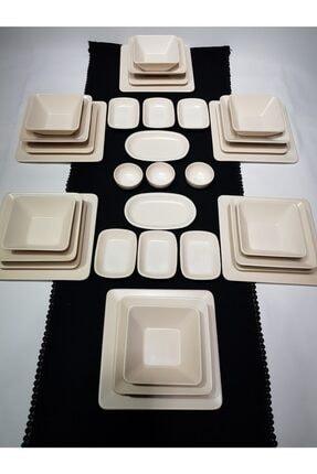 GULHANILE Kare 35 Parça 6 Kişilik Kahvaltı Yemek Takımı 1