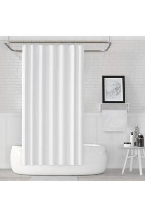 Jackline Beyaz Renk Banyo Perdesi 0
