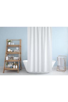 Jackline Beyaz Renk Banyo Perdesi 1