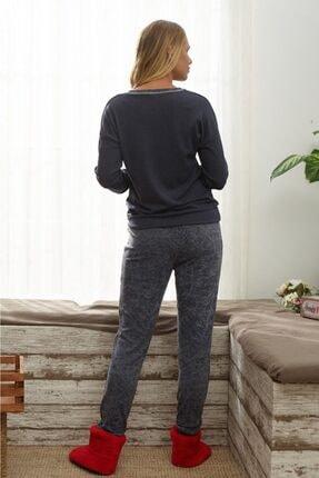 İPEKTENİM Kadın Gri Pijama Takımı 1