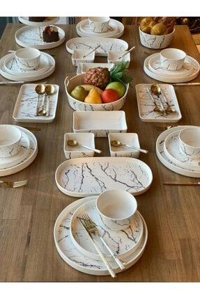 ROSSEV Kahvaltı Takımı Eros 57 Parça 6 Kişilik 0