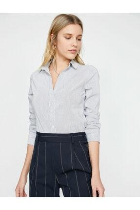 Koton Kadın Klasik Yaka Gömlek 0