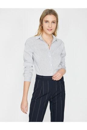 Koton Kadın Klasik Yaka Gömlek 1