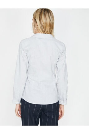 Koton Kadın Klasik Yaka Gömlek 3