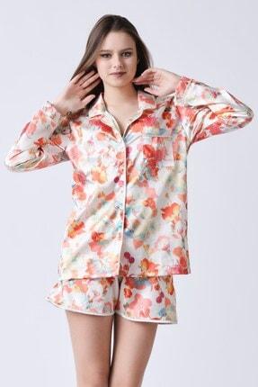 C&City Kadın Bej Yakalı Rosaline Gömlek 3