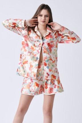 C&City Kadın Bej Yakalı Rosaline Gömlek 4