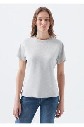 Mavi Doğa Dostu Gri Basic Tişört 3