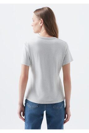 Mavi Doğa Dostu Gri Basic Tişört 4