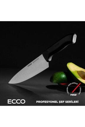 Pirge Siyah Çelik Şef Bıçağı  Seti 3