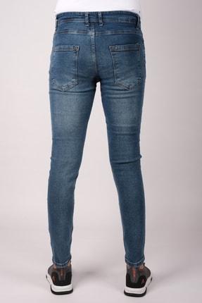 bombe Erkek Slim Fit Dar Kesim Kot Pantolon Mavi 1