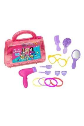 Barbie Oyuncak Güzellik Çantası + Ikili Makyaj Seti - Evcilik Oyuncak - Kız Oyuncak Depomiks 1