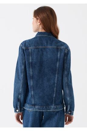 Mavi Kadın Karla Gold Icon Koyu Jean Ceket 110154-30105 3