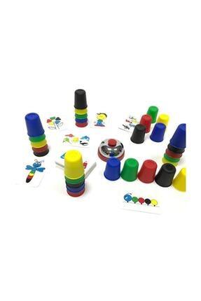 Zekice Eğitici Heyecanlı Bardaklar,hızlı Bardaklar, Pratik Bardaklar, Renkli Bardaklar, Zeka Ve Akıl Oyunu 1