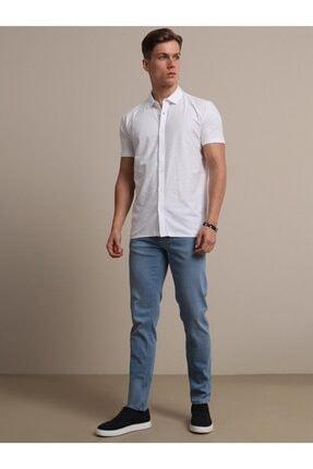 Kip Erkek Beyaz Jakarlı Örme T - Shirt 2