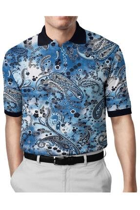 İgs Erkek Mavi Modern Fit Polo Yaka T-shirt 0