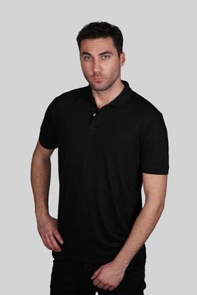 İgs Erkek Siyah Slim Fit Polo Yaka T-shirt 0