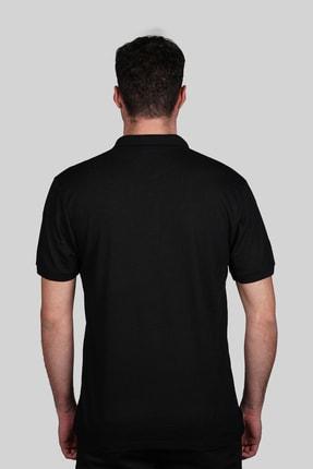 İgs Erkek Siyah Slim Fit Polo Yaka T-shirt 2
