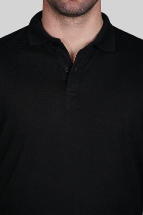 İgs Erkek Siyah Slim Fit Polo Yaka T-shirt 3