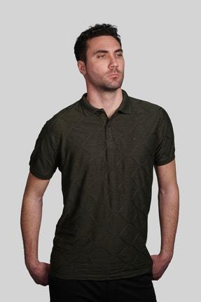 İgs Erkek Haki Slim Fit Polo Yaka T-shirt 0