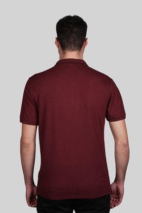 İgs Erkek Bordo Slim Fit Polo Yaka T-shirt 2