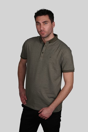 İgs Erkek Haki Slim Fit Polo Yaka T-shirt 1