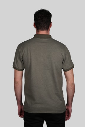 İgs Erkek Haki Slim Fit Polo Yaka T-shirt 2