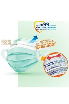 Evony Yumuşak Elastik Kulaklı Maske 10'lu X 5 Paket 50 Adet 4