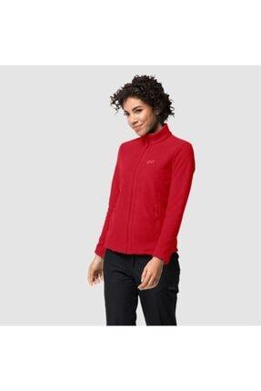 Jack Wolfskin Kadın Kırmızı W Moonrise Jkt Outdoor Sweatshirt 0