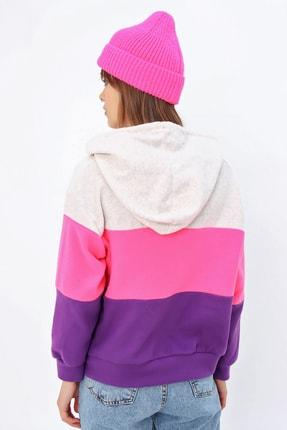 Ecrou Kadın 3 Renkli Yumoş Polar Sweatshirt 3