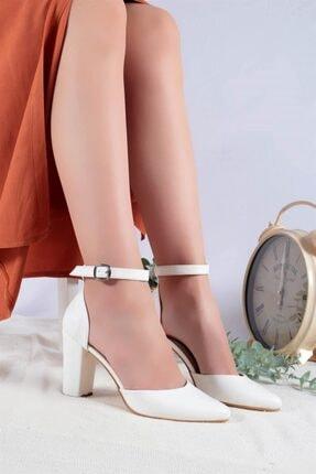 Ayakkabım Elimde Kadın Beyaz Cilt Joyce Topuklu Ayakkabı 0