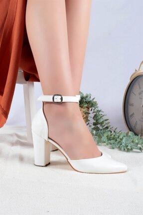 Ayakkabım Elimde Kadın Beyaz Cilt Joyce Topuklu Ayakkabı 1