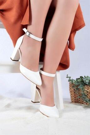 Ayakkabım Elimde Kadın Beyaz Cilt Joyce Topuklu Ayakkabı 2