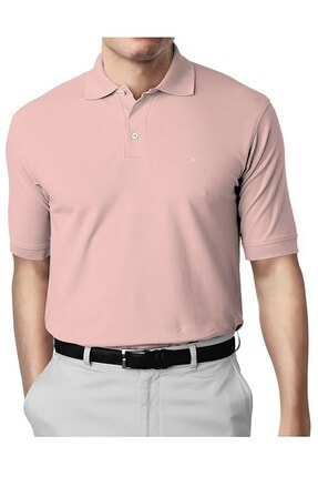 İgs Erkek Pembe Modern Fit Polo Yaka T-shirt 0