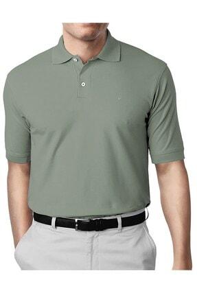 İgs Erkek Yeşil Modern Fit Polo Yaka T-shirt 0