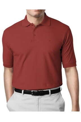 İgs Erkek Kiremit Modern Fit Polo Yaka T-shirt 0