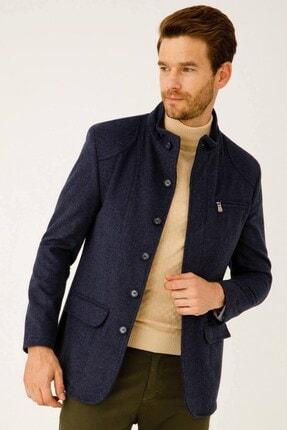İgs Erkek Mavi Modern Fit Palto 3