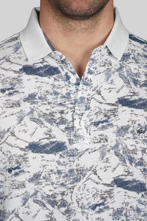 İgs Erkek Beyaz Modern Fit Polo Yaka T-shirt 3